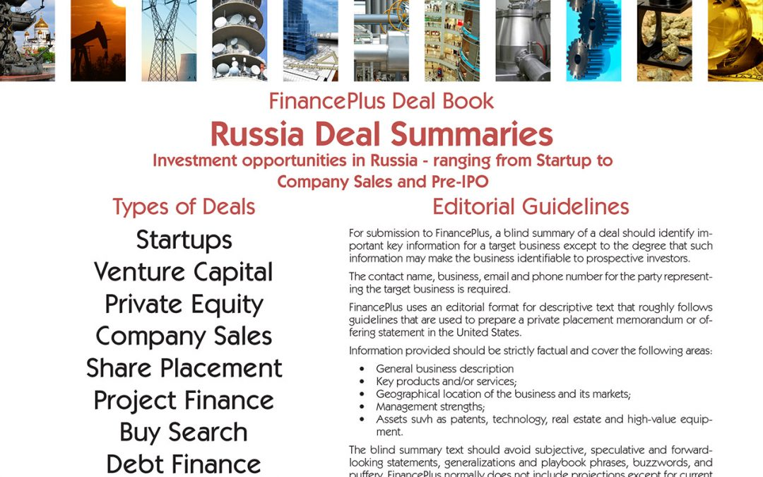 Coming in April: FinancePlus Russia Deal Book 2019